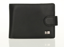 HASSION simple billfold style for business men with coin bag
