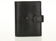HASSION leather wallet with clasp and coin bag for men