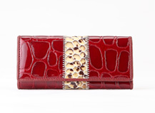 HASSION new women key holder Shining leather key holders Red keyholders for women