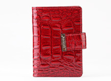 HASSION newest and classic red crocodile leather  card cases