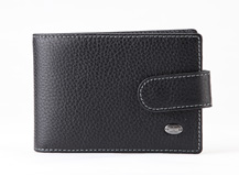 HASSION Litchi leather cardholder for men and women